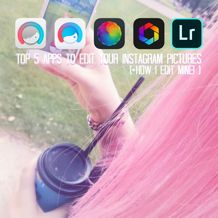 Top 5 Instagram Apps to Edit your Pictures; shown are Facetune, Facetune 2, Afterlight, Afterlight 2 and Adobe Lightroom