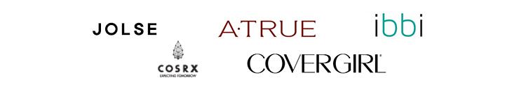 Auflistungen von Marken mit denen Kooperationen eingegangen wurden, unter anderem: Covergirl, COSRX, A-true